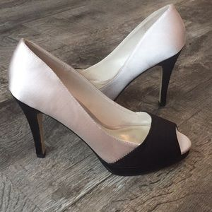 Rsvp satin leather sole dress bridal prom shoes